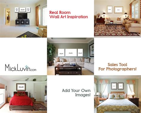 5 photoshop templates of real rooms for upselling your photos