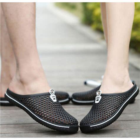 Sepatu No 38 sepatu sendal slip on santai size 38 black