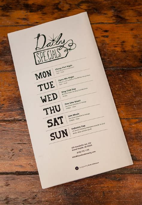 layout of menu card 120 best cool menus and design images on pinterest