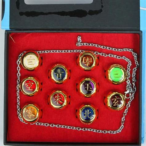 Ring Akatsuki Set rings 10 pcs akatsuki member s ring set sasori pein konan ebay