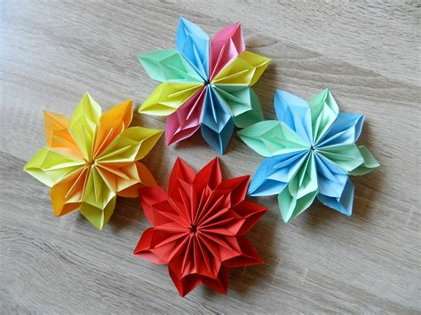 origami blume falten diy origami flower
