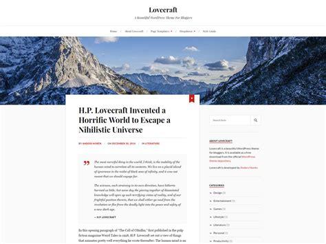 theme lovecraft blog 20 free minimalist wordpress themes for blogs portfolio