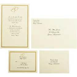 wilton wedding invitation templates wilton wedding gold sweetheart invitation set 50 count