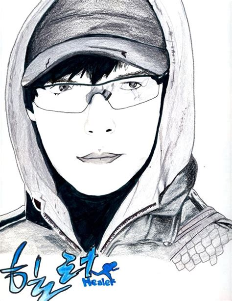 I M Drawing In Korean by Ji Chang Wook Korean Drama Healer Jin Drawings