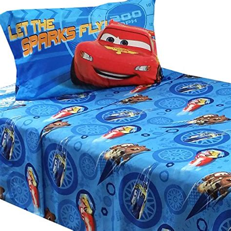 Lightning Mcqueen Bedding Set 3pc Disney Cars Bed Sheet Set Lightning Mcqueen City Limits Bedding Accessories Buy