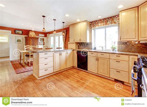 kitchen room photo simple warm colors kitchen room with a small dining area stock image image of interior l