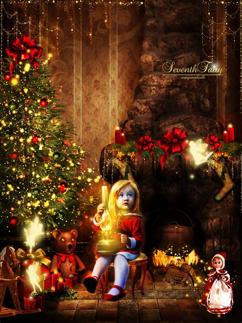 fairy christmas  seventhfairy  deviantart