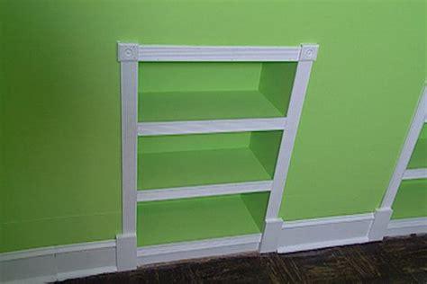 build recessed bookcases hgtv