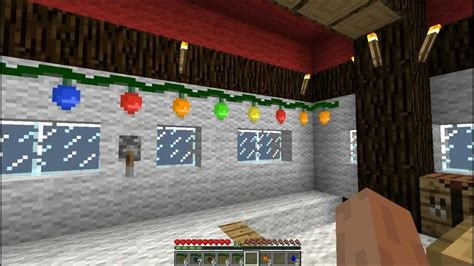 minecraft christmas house minecraft episode 48 my christmas house christmas craft mod review youtube