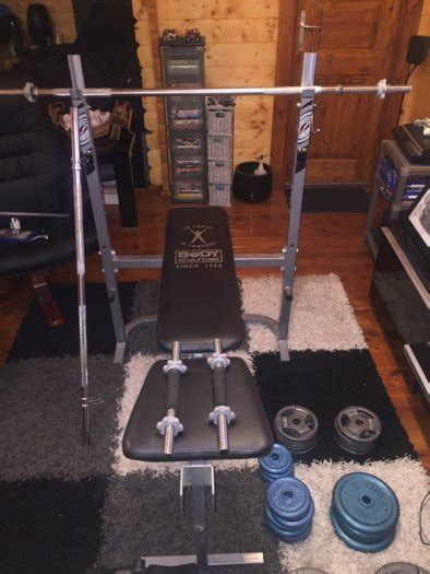full weight bench set body sculpture weight bench and full weight set for sale in ballyfermot dublin from