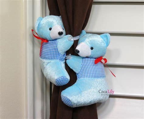 teddy curtain tie backs teddy bear curtain holder set 4 colors jane