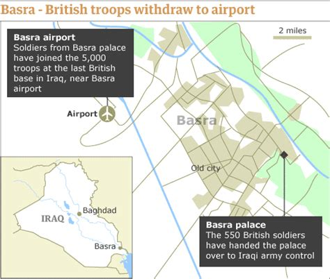 where is basra on a map 03 09 07 map basra troops move to airport