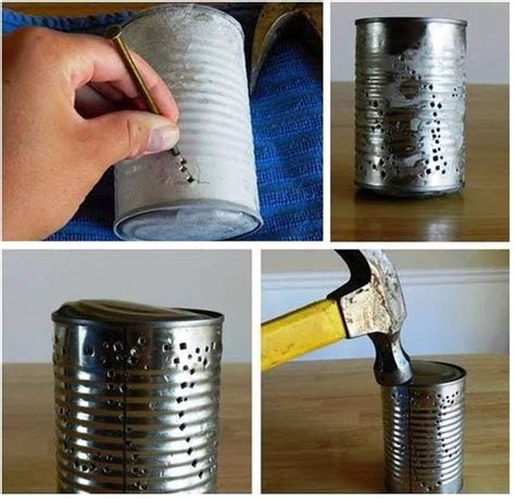 kerzenhalter selber basteln papier kerzenhalter aus alte konservendosen basteln dekoking