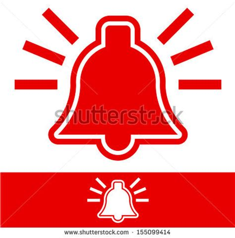 Bell Address Lookup Alarm Bell Stock Vector Illustration 155099414