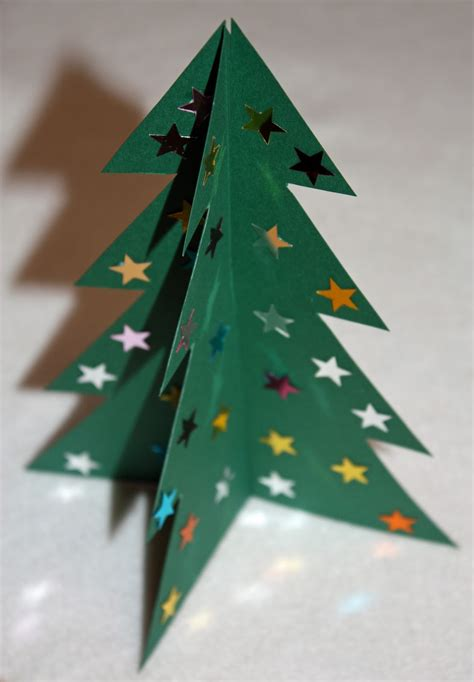 card tree template craft and activities for all ages make a 3d card