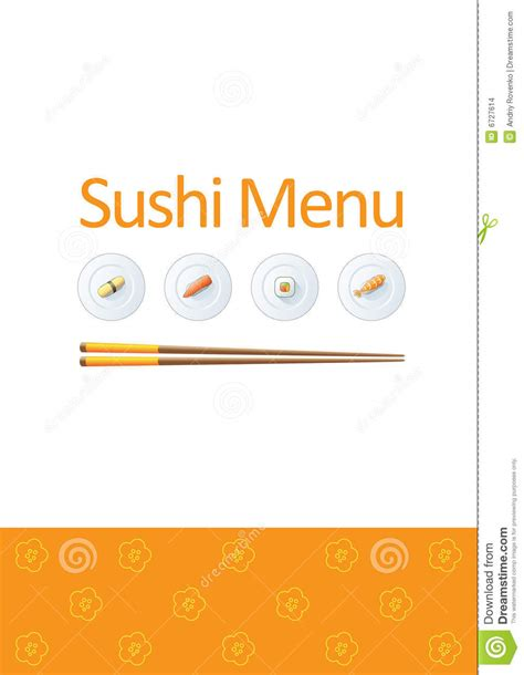 sushi menu template stock vector image of logo food
