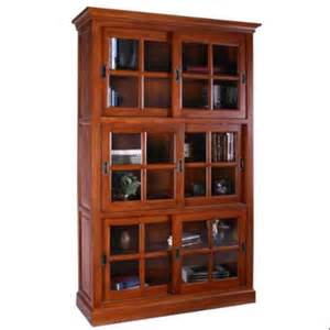 Bookcase With Sliding Doors Traditional Sliding Glass Door Bookcase Walmart