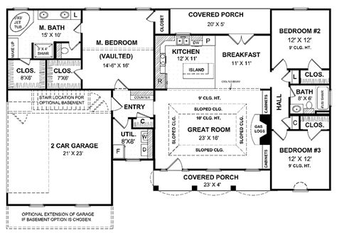 one story house blueprints home ideas