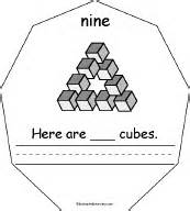 Cube Enchantedlearning - the number nine book for early readers enchantedlearning