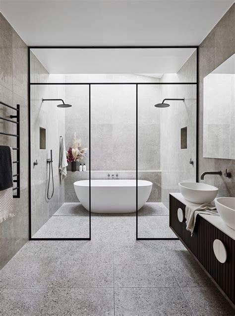large contemporary bathroom  wetroom black tapware