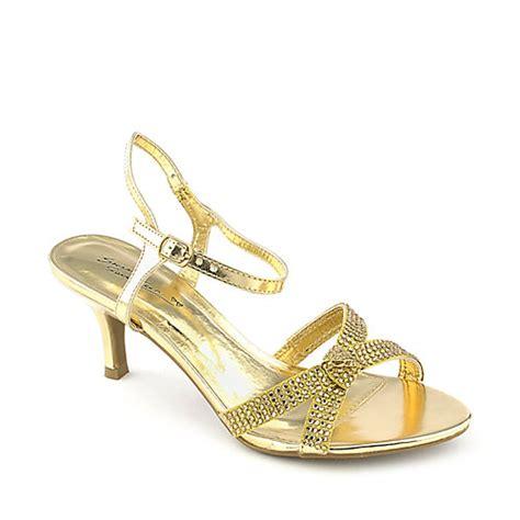 sweet seventeen janee 05 gold evening low heel dress shoe