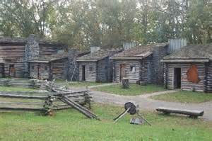 cabins inside the fort picture of fort boonesborough