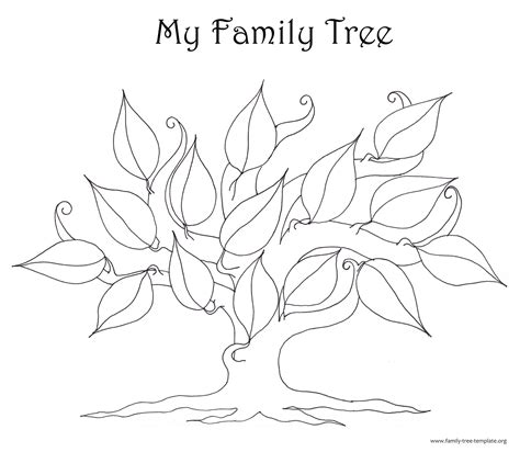 Family Tree Template Resources Tree Template With Leaves