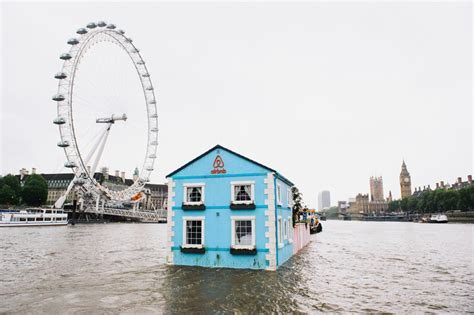 airbnb houseboats airbnb s floating house sets sail along the river thames