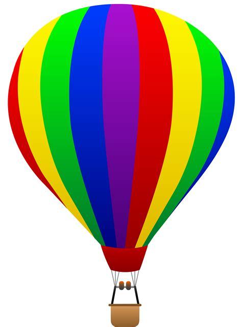 Air Baloon free clip of a rainbow striped air balloon