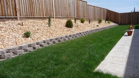 sloped backyard retaining wall retaining wall on sloped backyard exterior pinterest