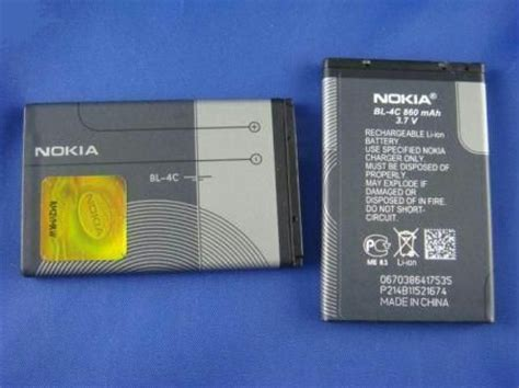Nokia Battery Nokia Bl4c Original Battery Nokia original nokia bl 4c battery