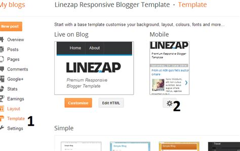 edit blogger mobile template gallery templates design ideas