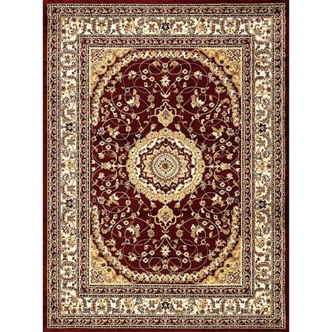 world rug gallery world rug gallery ardebil burgundy 5 ft 3 in x 7 ft 3 in area rug 5840 the home depot