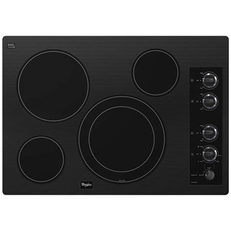Radiant Cooktop Ge Profile 30 In Radiant Electric Cooktop In Stainless
