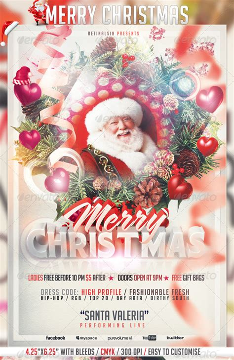 Best Christmas Flyer Templates For 2012 56pixels Com Merry Flyer Template