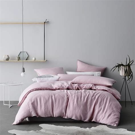 Bedroom Doona Covers Home Republic Vintage Washed Luxe Pink Quilt Cover