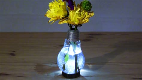How To Make Led Light Bulb How To Make A Light Bulb Vase