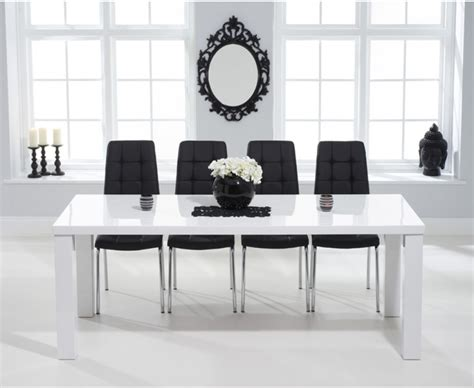 Dining Room Furniture Calgary Atlanta 200cm White High Gloss Dining Table With Calgary Chairs The Great Furniture Trading