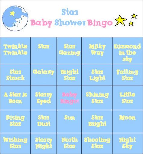 free printable baby shower bingo template free printable baby shower bingo