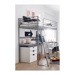 Ikea Bunk Bed Desk Sv 196 Rta Loft Bed Frame Silver Colour 90x200 Cm Ikea