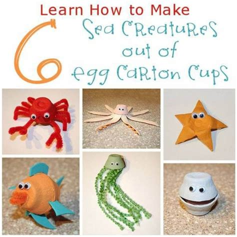How To Make Sea Animals Out Of Paper - best 25 sea creatures crafts ideas on sea