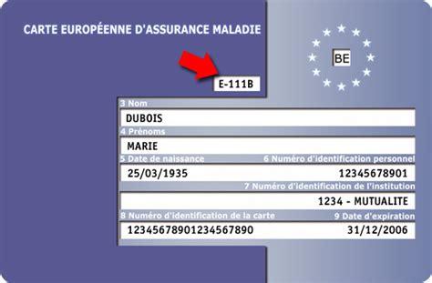 bureau carte assurance maladie voyages en europe pensez 224 la carte europ 233 enne d