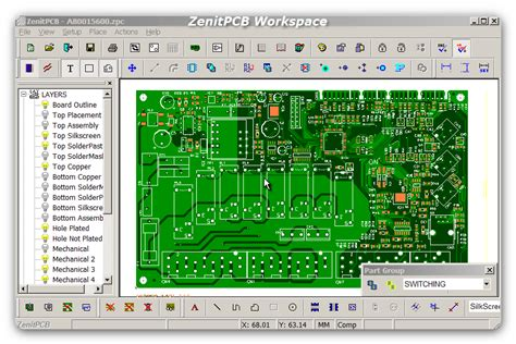 zenitpcb layout zenitpcb
