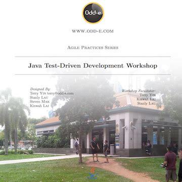 java tutorial test driven development odd e scrum and agile coaching in australia hong kong