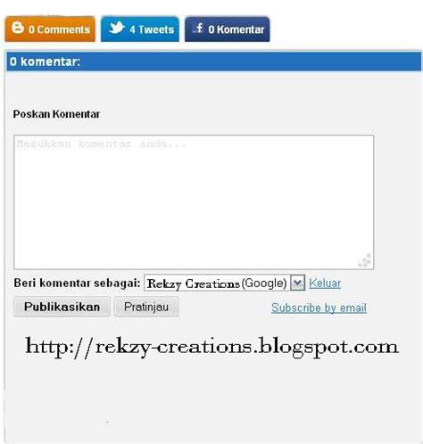 cara membuat kotak twitter di blog cara membuat kotak komentar twitter dan facebook dengan