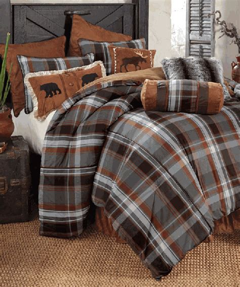 rustic bedding sets lodge log cabin bedding