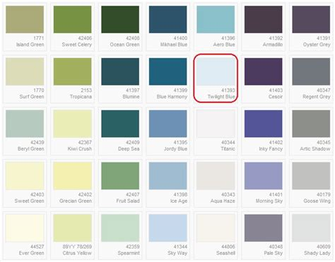daine auman s dulux colour card