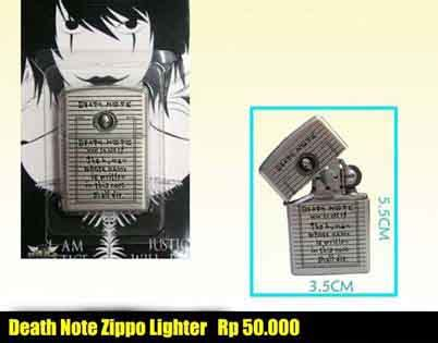 Kalung Anime Deathnote deathnote zippo lighter tanfidzaku anime toko