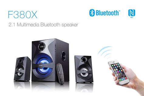 F D Bluetooth Hitam F380x fenda f d f380x bluetooth multimedia speaker 2 1