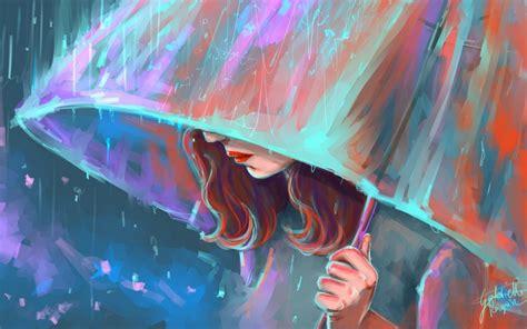 wallpaper girl rain girl in rain wallpaper wallpaper wide hd